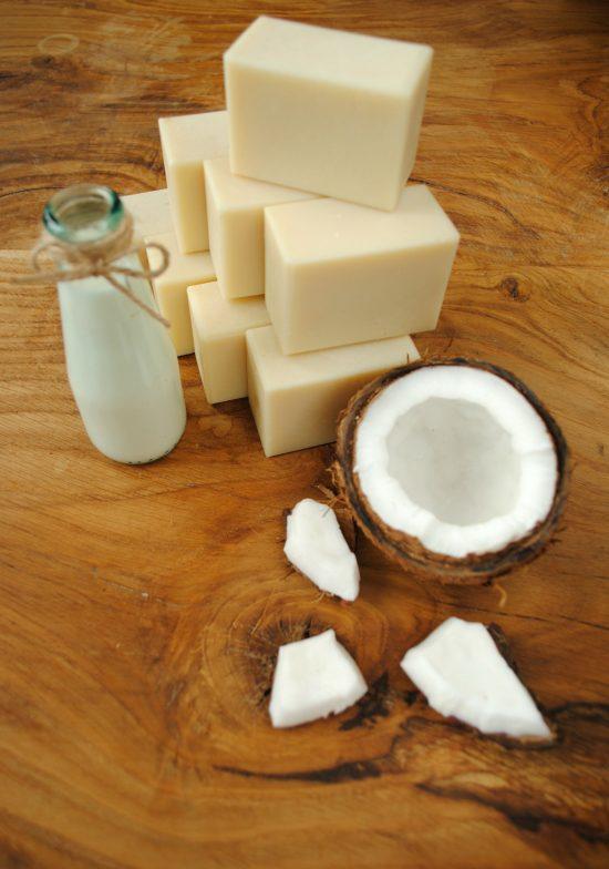 Mydło z mlekiem kokosowym naturalne ręcznie robione